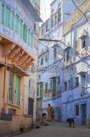 strada urbana nel rajasthan india vista