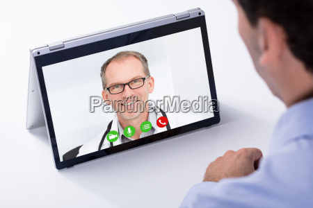 dottore medico portatile computer affare affari
