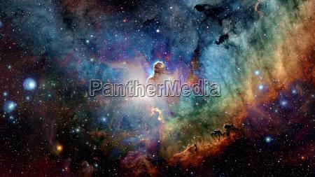 spazio universo notte via lattea galassia