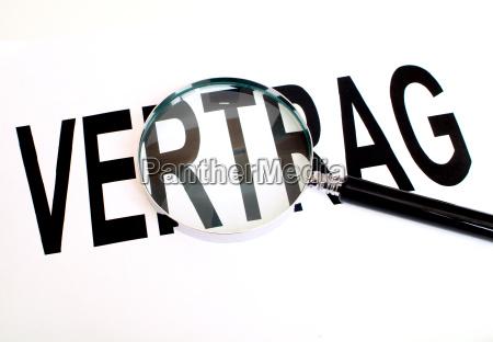 segnale contratto tipografia spopolato lente dingrandimento