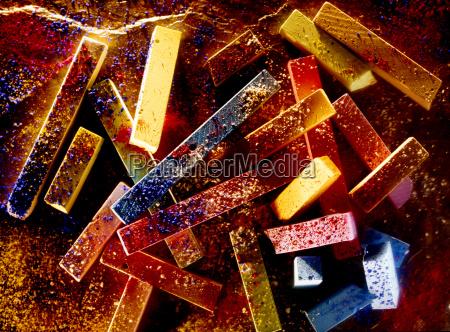 colori di gesso e pigmento colori