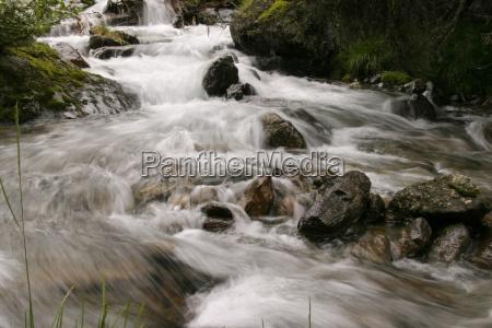 stone stream waterfall torrent drinking water