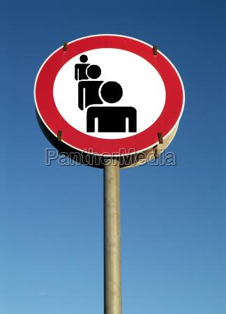 traffic sign symbol image people