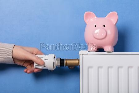 termostato di regolazione della mano della