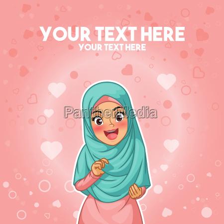 donna musulmana fiera e felice con