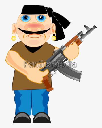 soldato illustrazione nemico criminale terribile vettore