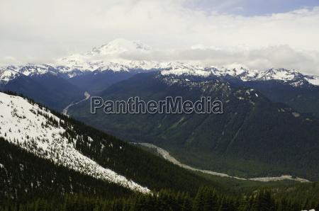 paesaggio con catena montuosa sullo sfondo