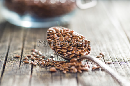 cibo marrone seme lino abbronzatura seme