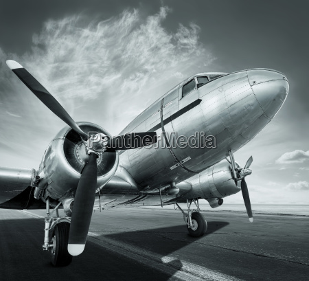 historical aircraft on a runway is