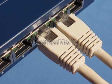 router lan modem porte