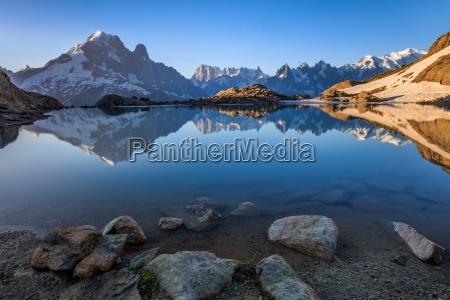 lac blanc alpi graie francia