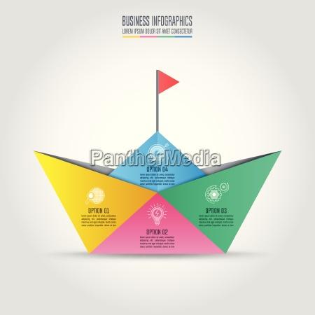 concetto di business design infografica con