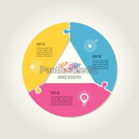 concetto di business design infografica con