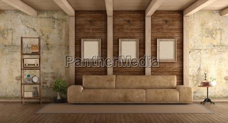 retro salone con il sofa