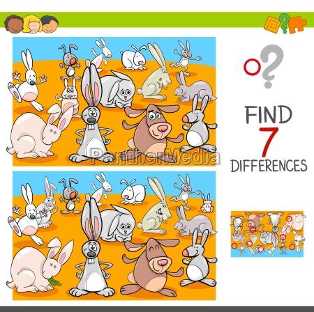 trovare differenze puzzle istruzione cartone animato