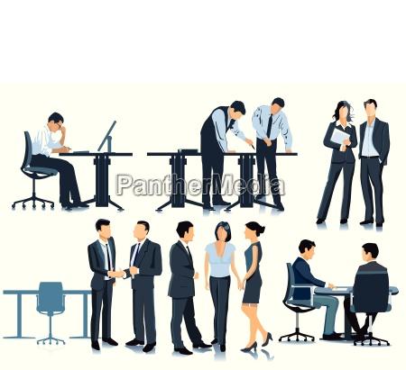 pianificazione e incontro in ufficio