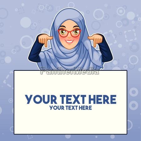 hijab e vetri duso della giovane