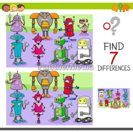 trovare differenze gioco con i robot