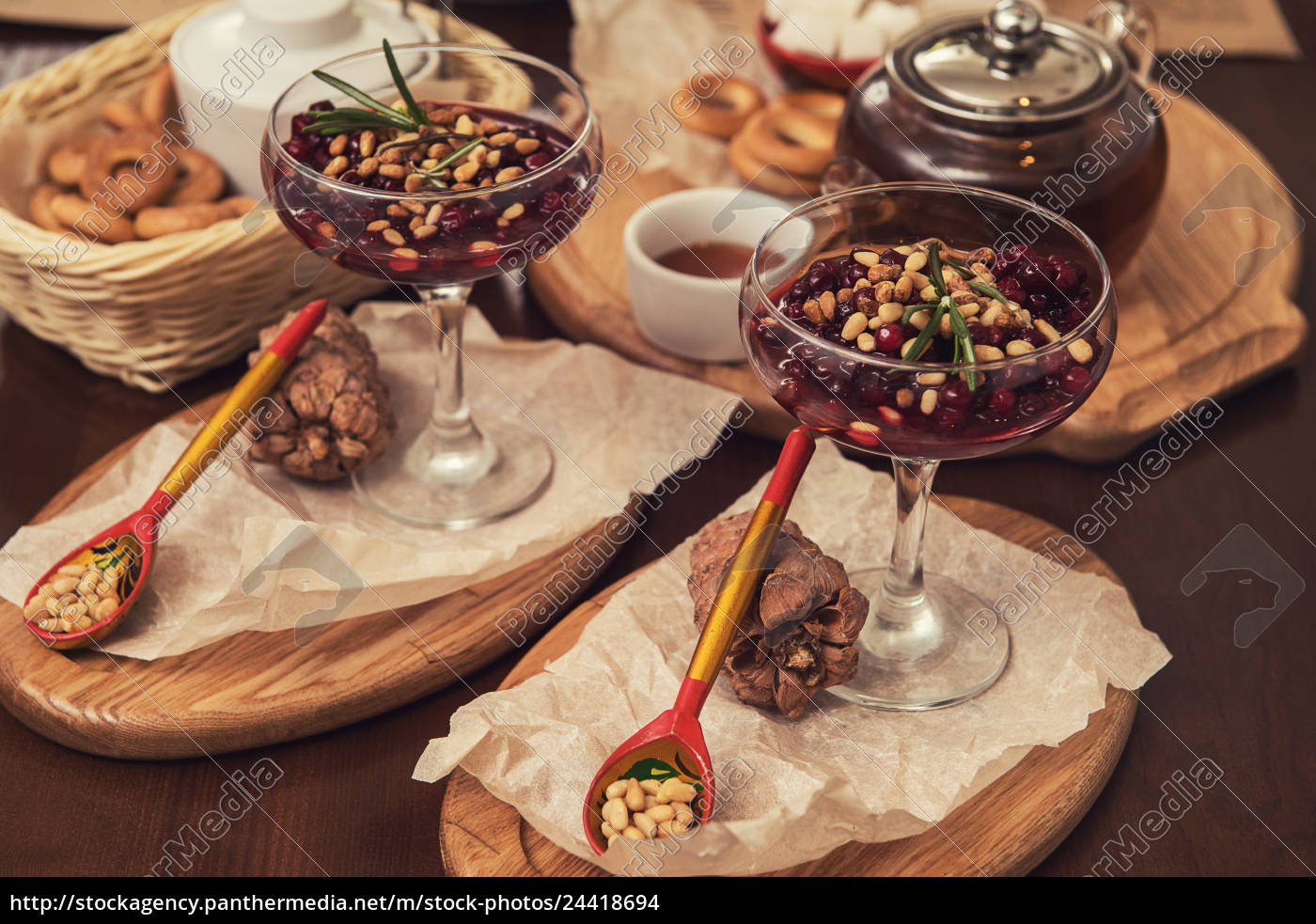 dessert, from, beriies, with, pine, seed - 24418694