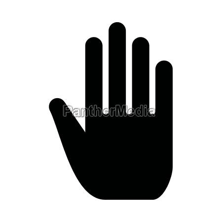 segnale gesto raggiungere saluti dito colore