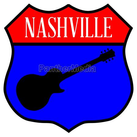 nashville guitar highway sign