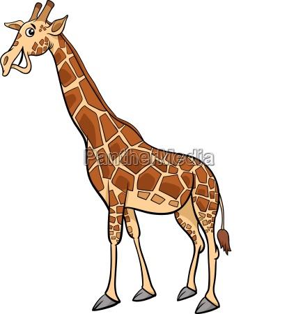 illustrazione animale del fumetto della giraffa