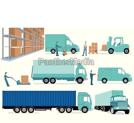 promozione trasporto illustrazione affare affari lavoro