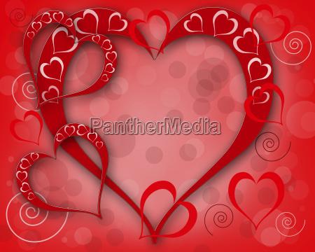 illustrazione con cuoricartolina di san valentino