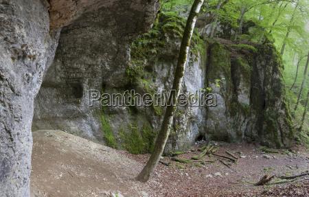 rock grotto below the castle wildenstein