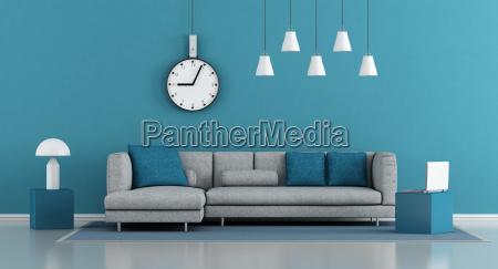 arredamento moderno stanza muro divano tempestivo