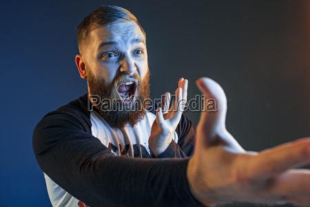 the anger and screaming man