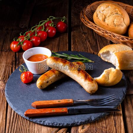 cibo caldo delizioso pasto tedesco griglia