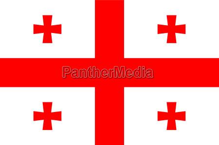 viaggiare grafico turismo illustrazione bandiera georgia