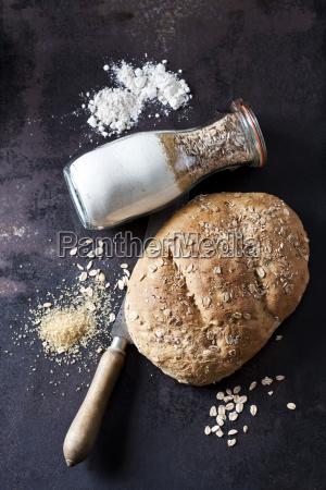 cibo pane freschezza zucchero metallo bottiglia