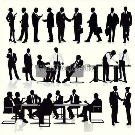 gruppo di manager nel lavoro di