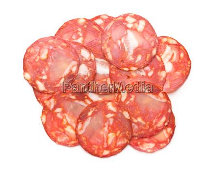 cibo buongustaio salame spagnolo fette di
