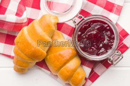 cibo pane dolce biscotto carino marmellata