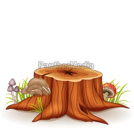 albero illustrazione fungo champignon di da