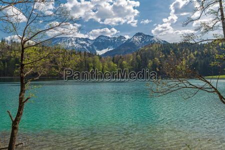 alpi baviera lago di montagna acqua