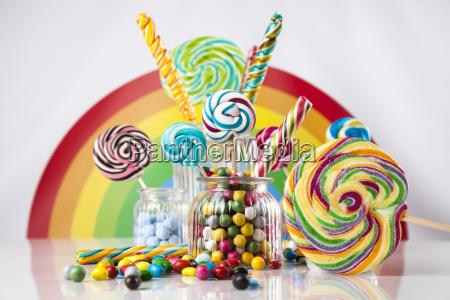 misti caramelle colorate lecca lecca e