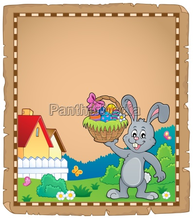 parchment with easter bunny topic 1