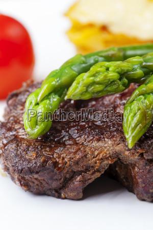 verde piatto bistecca asparago parte segmento