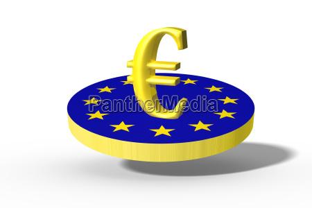 blu rilasciato simbolico politico grafico euro