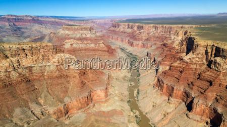 landscape panoramic rock canyon colorado river