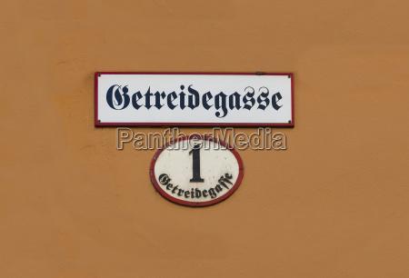 segnale dettaglio citta primo piano austria