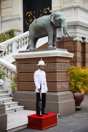 the palace guard standing outside the