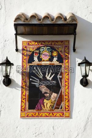 artwork depicting jesus christ wearing a