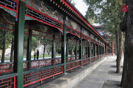 colourful railings and ornate facade of
