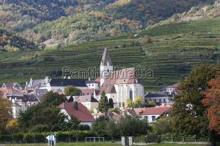 chiesa citta collina austria europa orizzontale