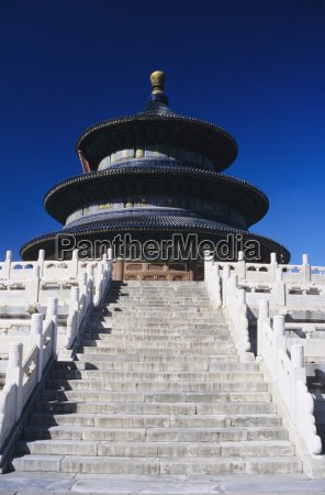 china beijing temple of heaven view